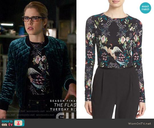 Alice + Olivia Demia Jacket worn by Felicity Smoak on Arrow