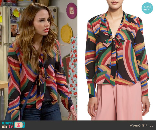 Alice + Olivia Aisha Top worn by Aimee Carrero on Young & Hungry
