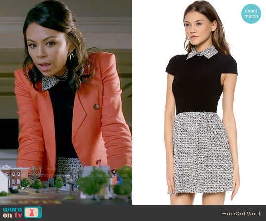 Alice + Olivia Charlotte Dress worn by Janel Parrish on PLL