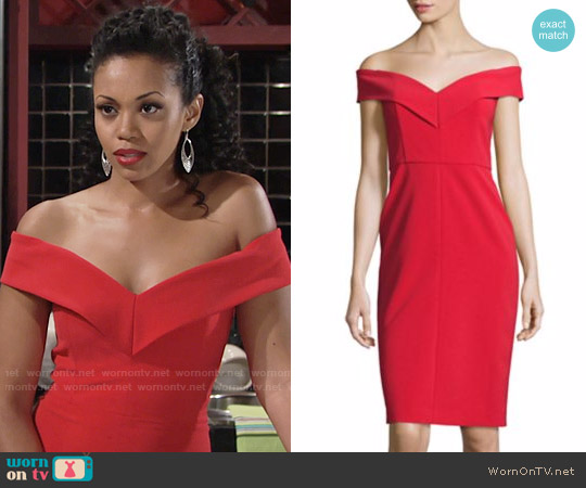 Alice + Olivia Luana Dress worn by Hilary Curtis (Mishael Morgan) on The Young & the Restless