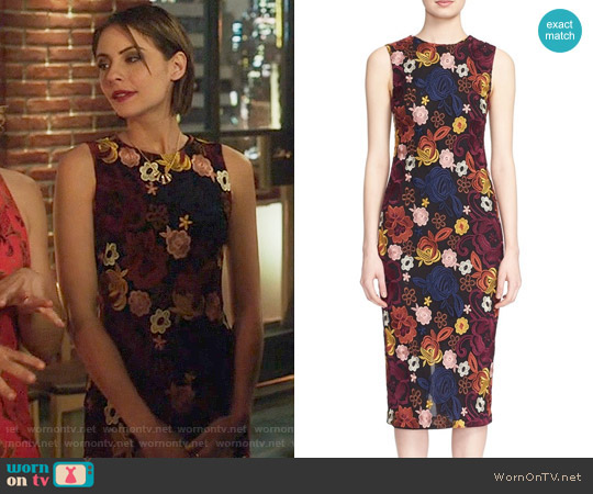 Alice + Olivia Nat Dress worn by Thea Queen (Willa Holland) on Arrow