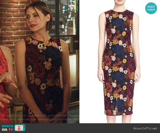 Alice + Olivia Nat Dress worn by Willa Holland on Arrow