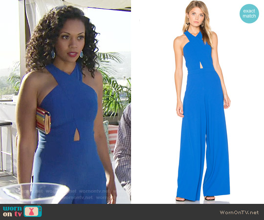 Alice + Olivia Trinity Jumpsuit worn by Mishael Morgan on The Young & the Restless