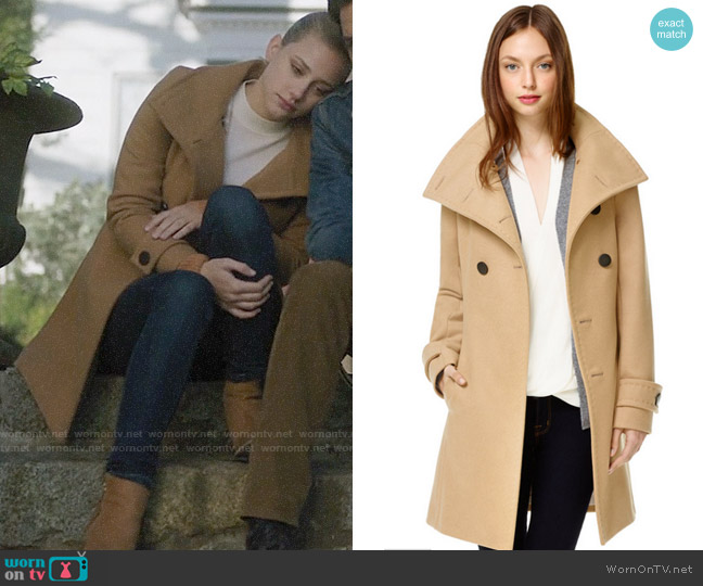 Babaton Bromley Coat worn by Betty Cooper (Lili Reinhart) on Riverdale