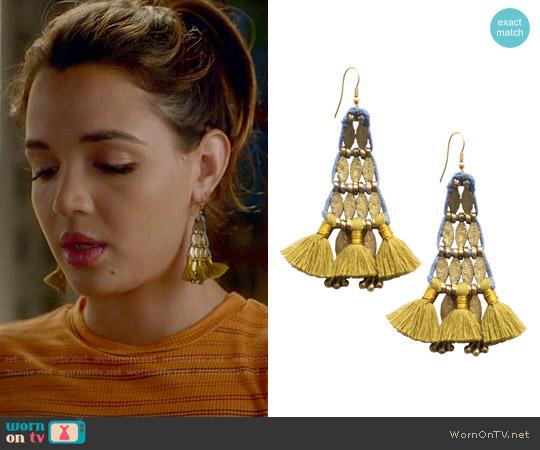 Bluma Project Sima Earrings worn by Cassandra on Famous in Love
