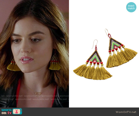 Bluma Project Talitha Gold Earrings worn by Lucy Hale on PLL