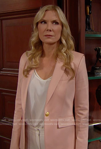 Brooke's pink blazer on The Bold and the Beautiful