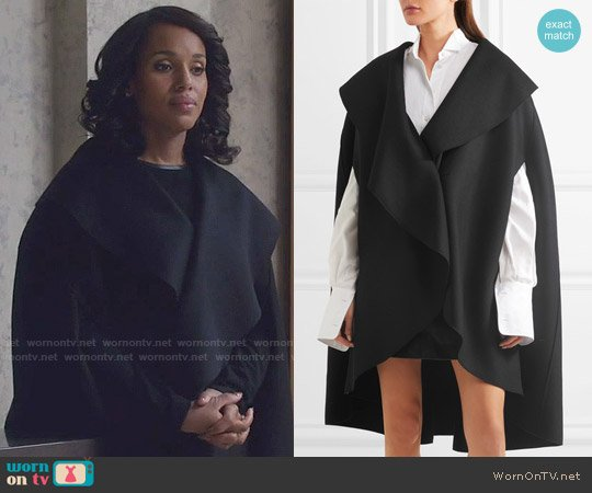 Burberry Double-faced wool-felt cape worn by Kerry Washington on Scandal