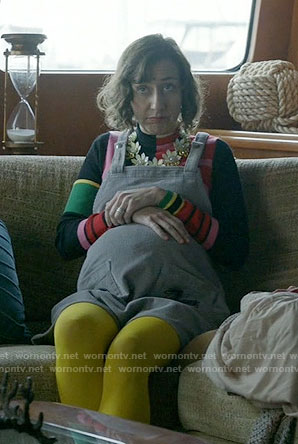 Carol's multi-colored turtleneck and pinafore dress on Last Man on Earth