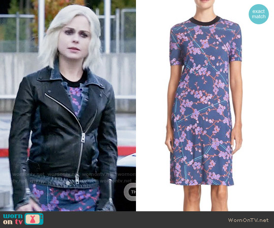 Carven Floral Print T-Shirt Dress worn by Liv Moore (Rose McIver) on iZombie