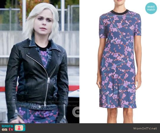 Carven Floral Print T-Shirt Dress worn by Rose McIver on iZombie