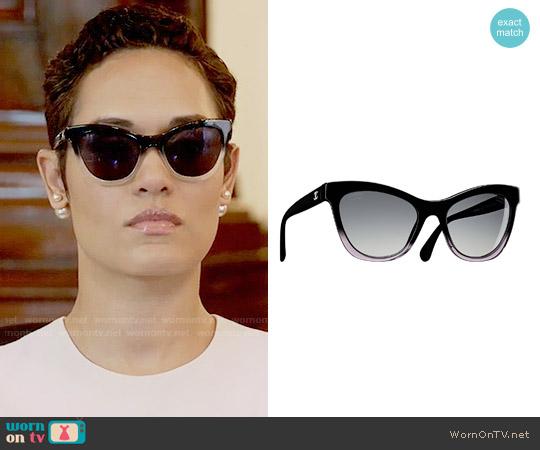 Chanel Summer Cat Eye Sunglasses worn by Anika Calhoun on Empire
