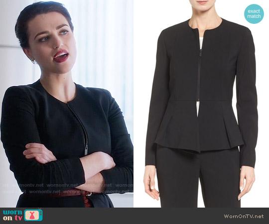 Classiques Entier Fold Detail Peplum Jacket worn by Katie McGrath on Supergirl