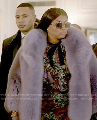 Cookie's purple tiger print dress on Empire