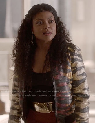 Cookie's metallic tiger striped jacket on Empire