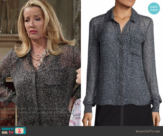 Diane von Furstneberg Carter Blouse worn by Melody Thomas-Scott on The Young & the Restless