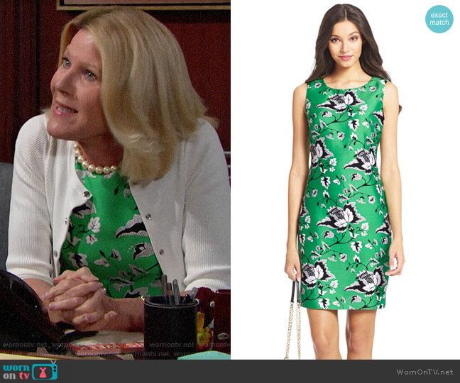 Diane von Furstenberg Sofia Dress worn by Pamela Douglas (Alley Mills) on The Bold & the Beautiful