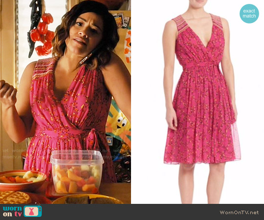 Diane von Furstenberg Bali Dress worn by Gina Rodriguez on Jane the Virgin