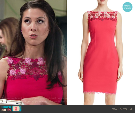 Elie Tahari Laurence Dress worn by Laur Allen on The Young & the Restless