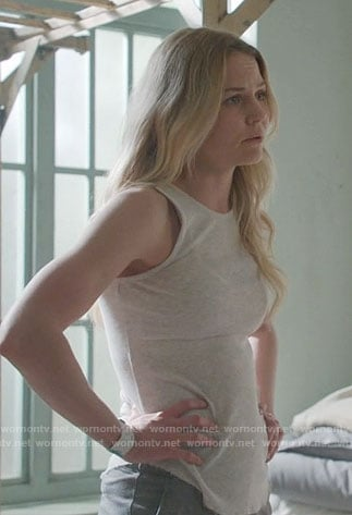 Emma's light grey tank top on Once Upon a Time