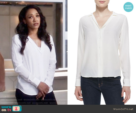 Equipment Adalyn Blouse worn by Iris West (Candice Patton) on The Flash