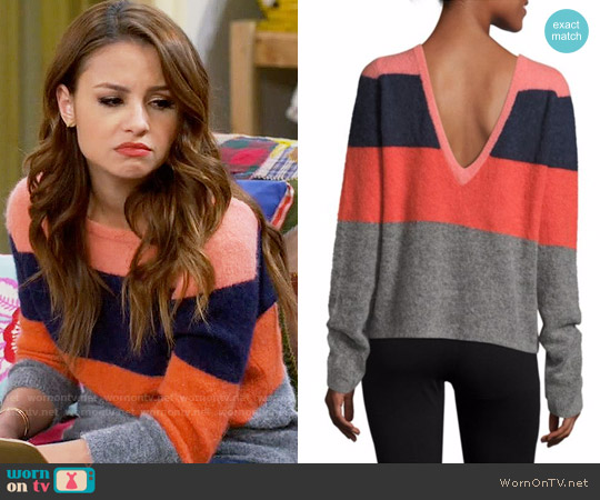 Equipment Calais Sweater worn by Aimee Carrero on Young & Hungry