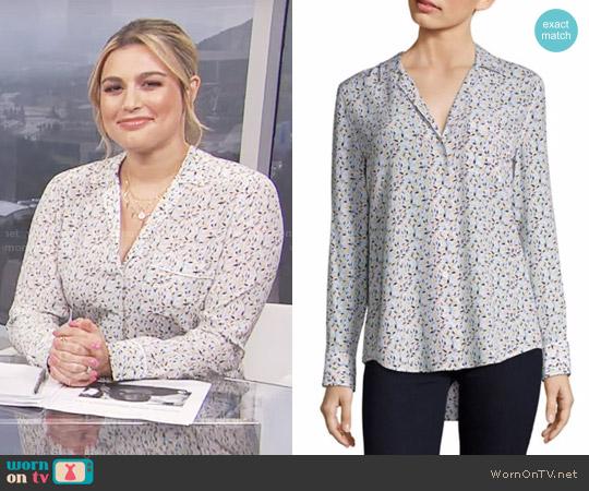 Equipment Kiera Floral-Print Silk Shirt worn by Carissa Loethen Culiner  on E! News