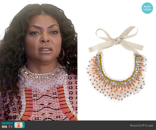 Etro Sequin Bib Necklace worn by Taraji P. Henson on Empire
