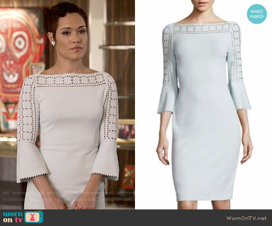 Fendi Geometric Full-Sleeve Knit Dress worn by Grace Gealey on Empire