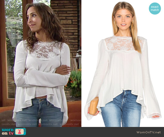 For Love and Lemons Ellery Blouse worn by Lily Winters (Christel Khalil) on The Young & the Restless