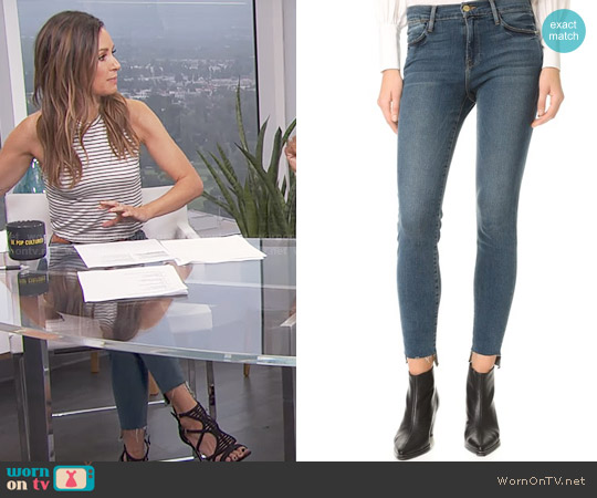 Frame Le High Skinny Raw Stagger Jeans worn by Catt Sadler on E! News