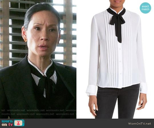 Frame Edwardian Blouse worn by Joan Watson (Lucy Liu) on Elementary