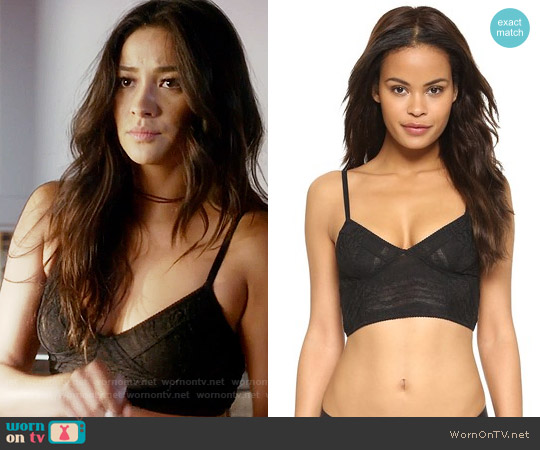 Free People Stretch Lace Crop Bra worn by Emily Fields (Shay Mitchell) on PLL