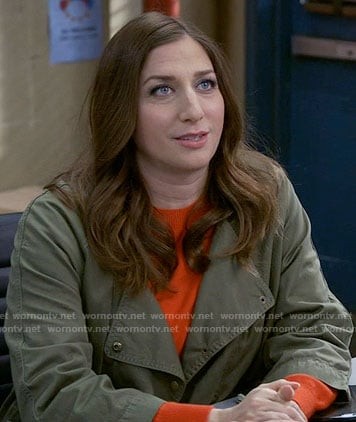 Gina's army jacket on Brooklyn Nine-Nine