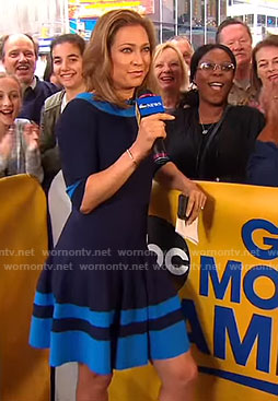Ginger's blue flare dress on Good Morning America