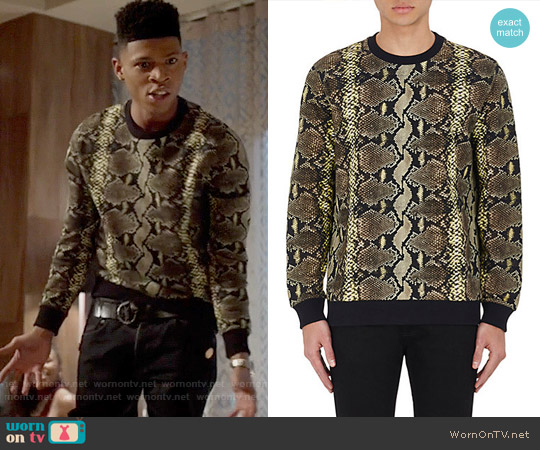 Givenchy Python-Print French Terry Sweatshirt worn by Bryshere Y. Gray on Empire