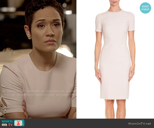 Givenchy Short-Sleeve Fitted Pencil Dress worn by Anika Calhoun (Grace Gealey) on Empire