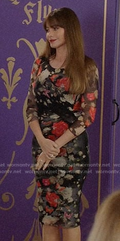 Claire's floral maxi dress on Modern Family