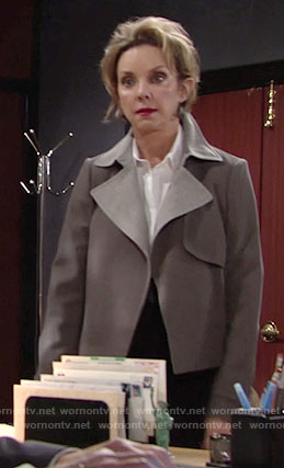 Gloria's grey jacket on The Young and the Restless