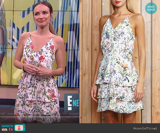 Greylin Cameron Floral Tiered Dress worn by Catt Sadler on E! News