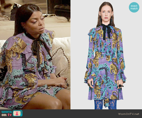 Gucci Bengal Dress worn by Cookie Lyon (Taraji P. Henson) on Empire