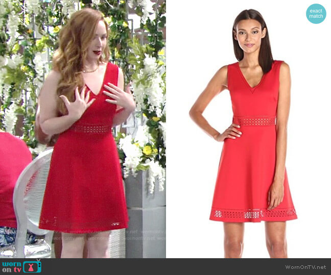 Guess Lasercut Fit and Flare Dress worn by Mariah Copeland (Camryn Grimes) on The Young & the Restless
