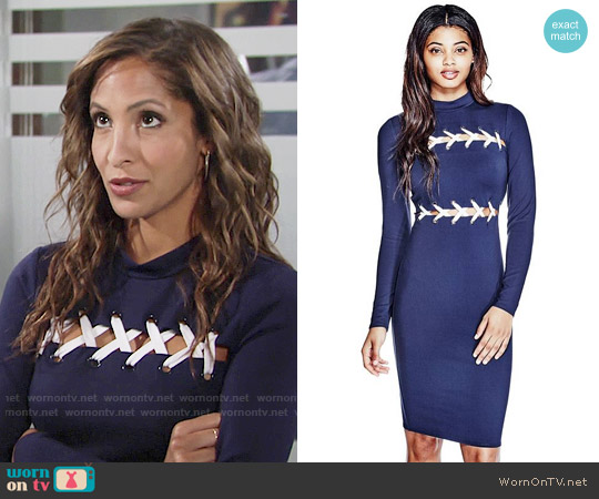 Guess Pia Dress worn by Christel Khalil on The Young & the Restless