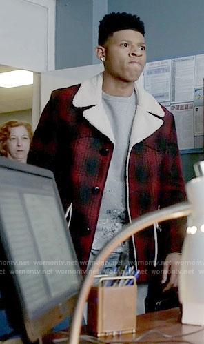 Hakeem's red plaid jacket on Empire
