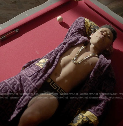 Hakeem's purple Versace robe on Empire