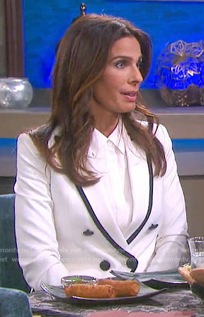 Hope's white blazer with black trim on Days of our Lives