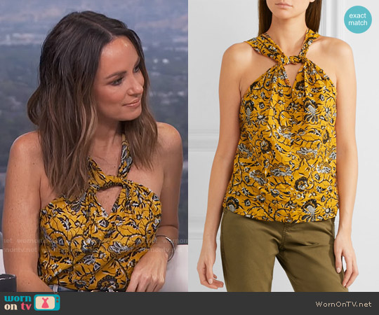 Etoile Isabel Marant Acan Top worn by Catt Sadler (Catt Sadler) on E! News