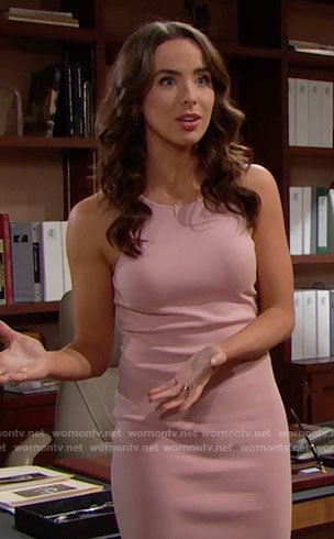 Ivy's pink dress on The Bold and the Beautiful