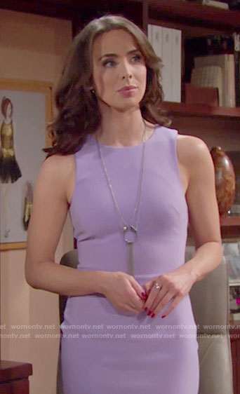 Ivy's purple dress on The Bold and the Beautiful