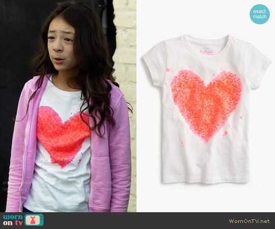 J. Crew Girls' Splatter Sequin Heart T-Shirt worn by Lily Tucker-Pritchett (Aubrey Anderson-Emmons) on Modern Family
